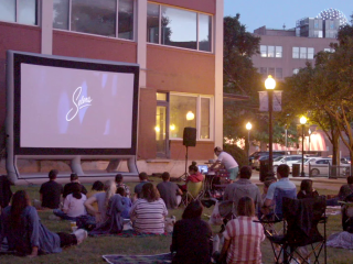 Downtown Dallas movie nights Selena