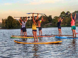 Sunset SUP Yoga & Wine Tasting: Awakening Your Senses with Vino Vinyasa & Movement Goddess