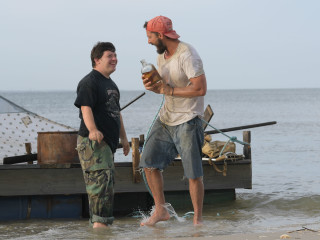 Zack Gottsagen and Shia LaBeouf in The Peanut Butter Falcon