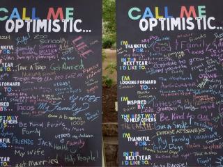 Call Me Optimistic chalkboards