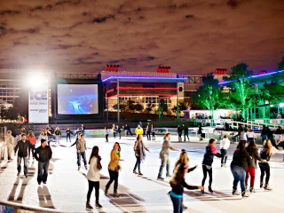 Discovery Green ice skating downtown