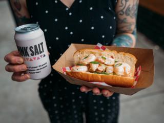 Wicky's Walkup shrimp roll
