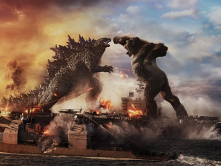 Godzilla and King Kong in Godzilla vs. Kong
