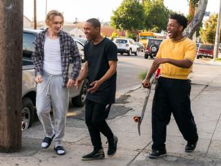 Charlie Plummer, Kelvin Harrison, Jr., and Jacob Latimore in Gully