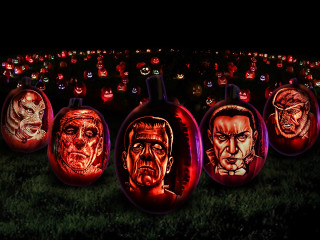 Pumpkins at Frights 'n Lights