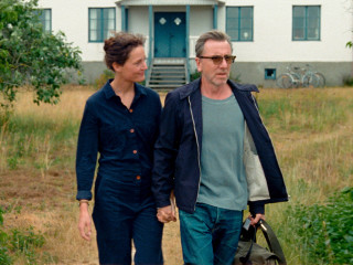 Vicky Krieps and Tim Roth in Bergman Island