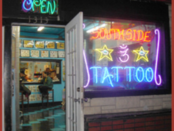 Austin_photo: places_shopping_southside tattoo_exterior