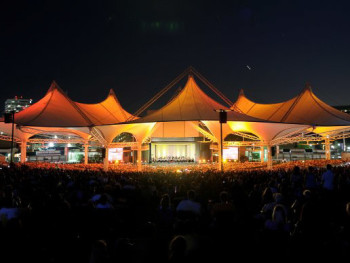 News_Cynthia Woods Mitchell Pavilion_The Woodlands_night