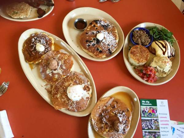 Snooze Montrose pancakes benedicts