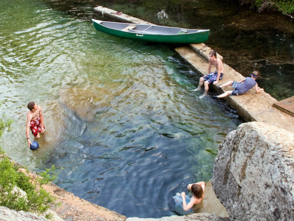 Jacob's Well best swimming holes Austin, Texas