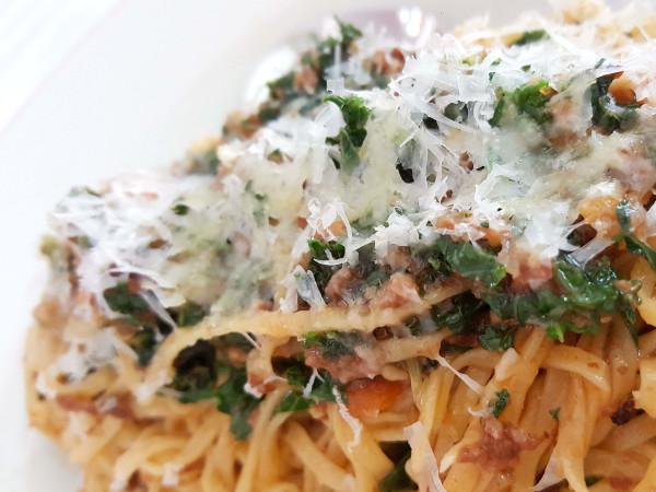 June's All Day restaurant Austin South Congress pasta spaghettit bologanaise