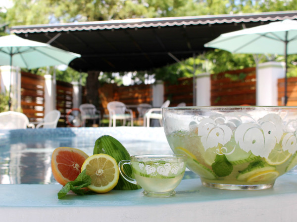 Kitty Cohen's Austin bar cocktails drinks Key Party punch outdoor patio pool