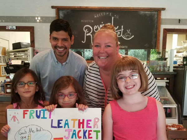 Revival staff and Recipe for Success kids, top Joey Lunar, Layne Cruz; Bottom, Kiran Smith, Chloe Smith, Ella Taylor