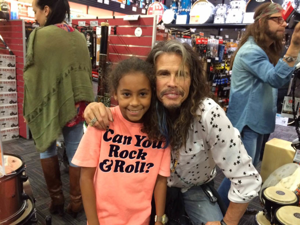 Celebrity sighting, Easton Peters, Steven Tyler, July 2016