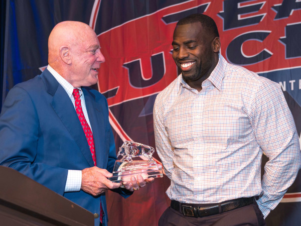 Texans Team Luncheon 8/16 Bob McNair, Whitney Mercilus