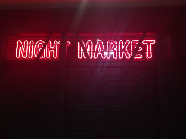 Night Market sign
