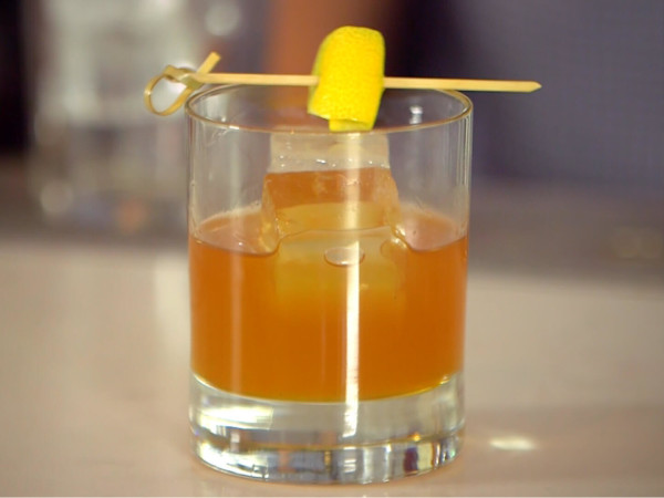 Yellow fever old fashioned from Austin bartender Ty Yi