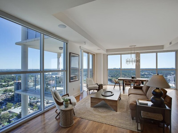 RENTCafe Most Expensive Rental Homes Texas September 2015 Austin condo 98 San Jacinto Boulevard Unit 2604 Four Seasons downtown 78701