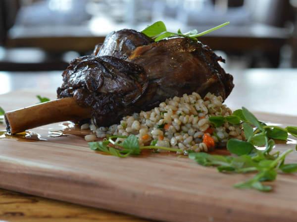 Barley and Board lamb shank