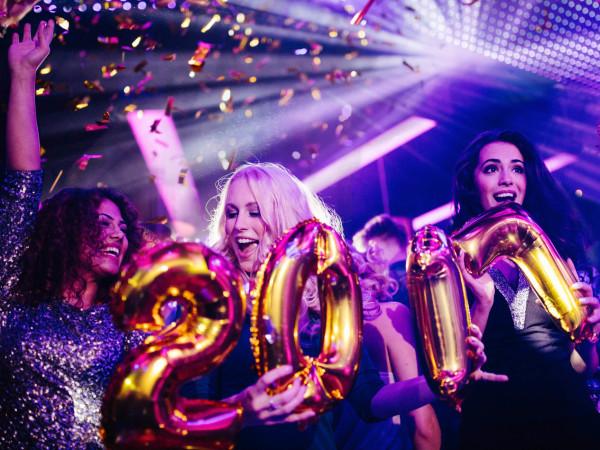 Women celebrating New Year's Eve