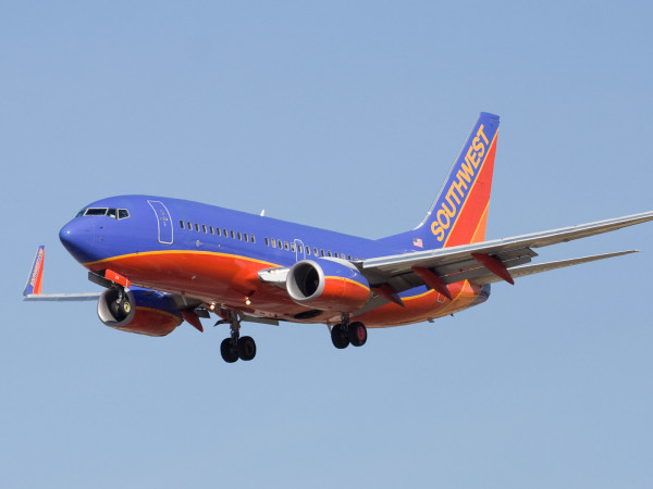 Southwest Airlines airplane jet flying