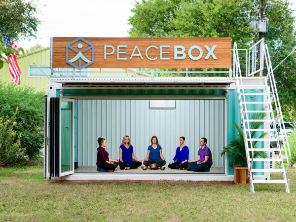 Peace Box pop-up meditation studio