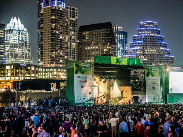 SXSW Festival Austin skyline