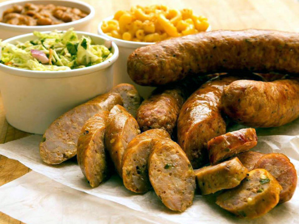 Ten50 BBQ sausage and sides