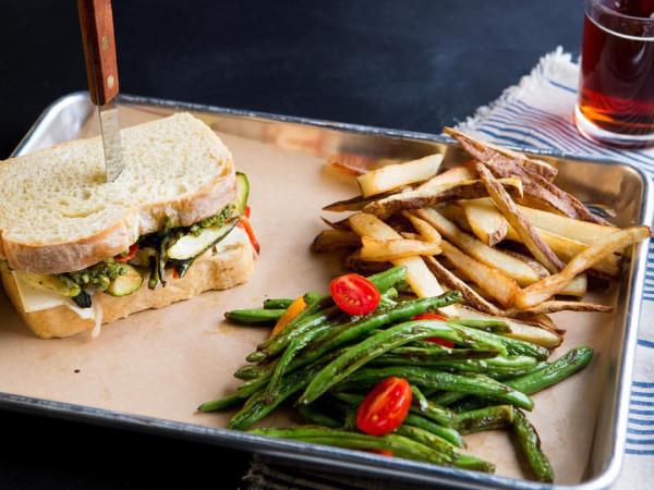 The Beer Plant vegan sandwich