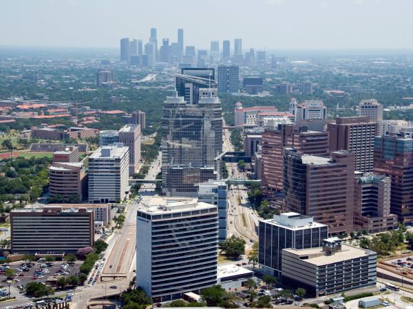 Texas Medical Center, downtown, Houston, skyline