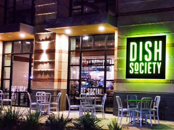 Dish Society Houston exterior night January 2014