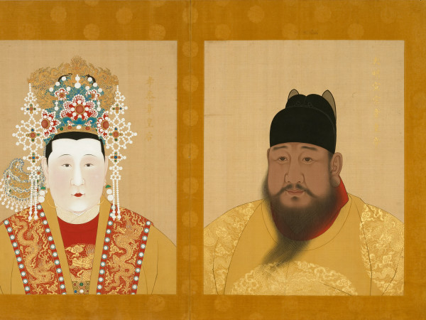 Half portraits of Emperor Xuande and Empress Zhang, Ming Dynasty, at Museum of Fine Arts