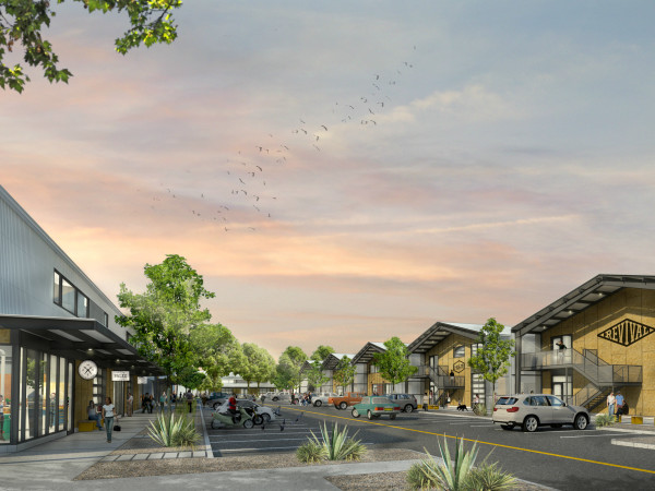 Springdale General creative office complex rendering Central Austin Management Group 2016