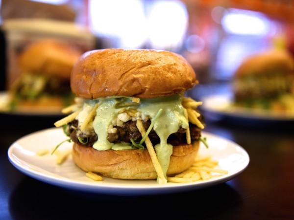 Bernie's Burger Bus James Beard blended burger