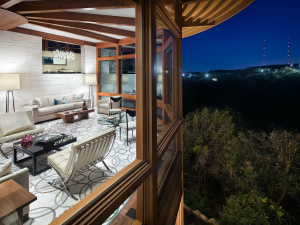 Austin house home 101 Pascal Lane Weslake Rob Roy neighborhood living room view