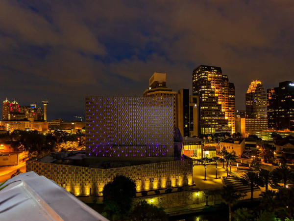 Tobin Center San Antonio Skyline