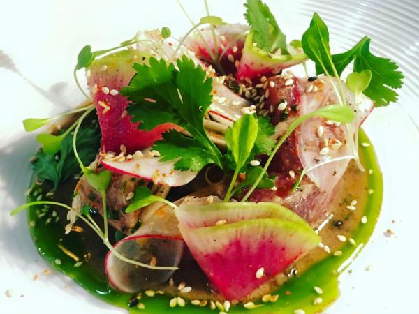 Tuna and radishes dish Hearsay Urban Taste