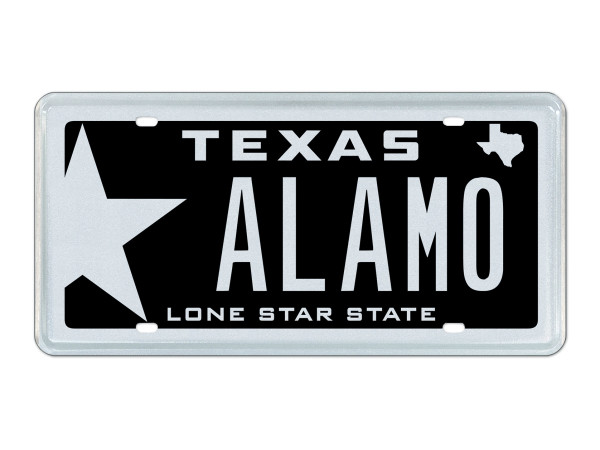 Alamo Texas license plate February 2016 auction