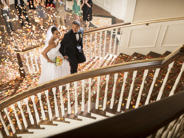 Grand Staircase at Tremont House wedding