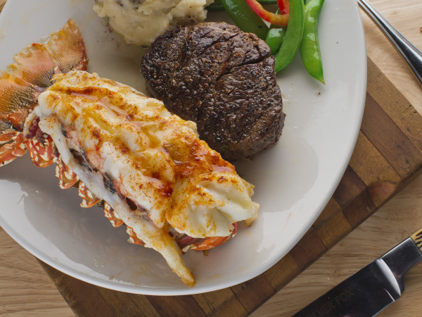 III Forks steak fillet lobster dish 2015