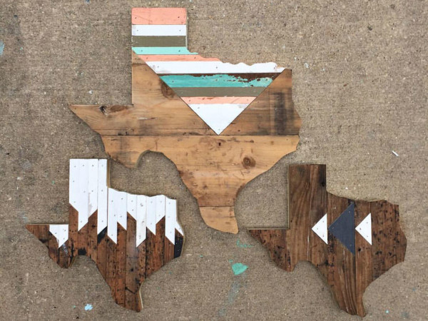 Hemlock and Heather Texas wall hangings