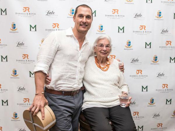 Matthew McConaughey Edith Royal 90th birthday