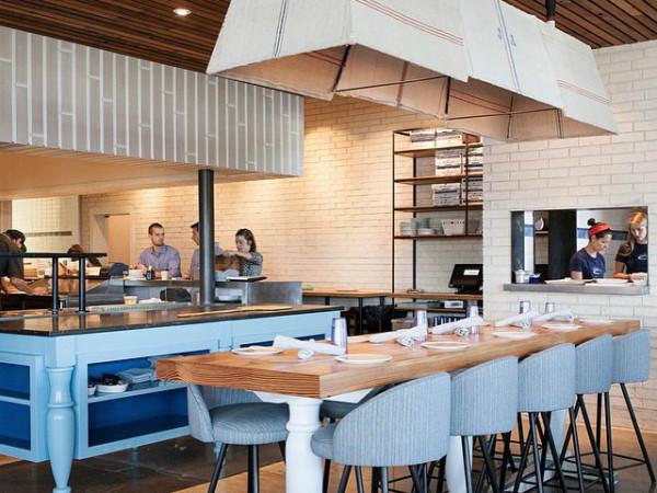 St. Philip Pizza Parlor interior Austin