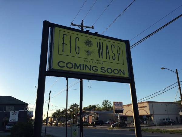 Fig & Wasp Test Kitchen sign