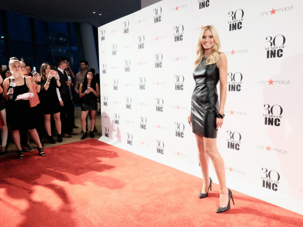 Heidi Klum at Macy'c INC party at New York Fashion Week