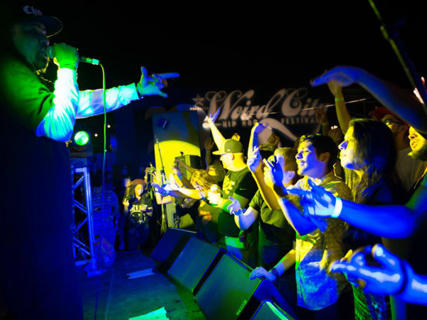Weird CIty Hip-Hop Festival crowd show performance action shot Austin 2014