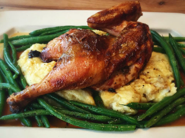 Dai Due Austin restaurant roast chicken dish