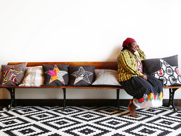 IKEA pillows made by Texas refugees