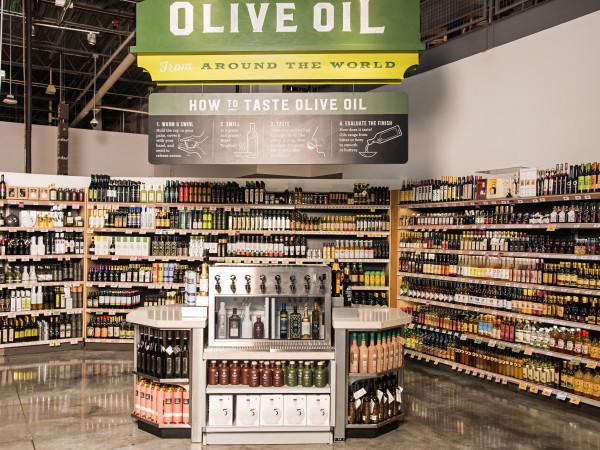 Central Market Houston Olive Oil bar