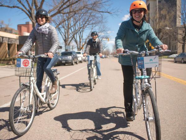 Bike share, bicycling